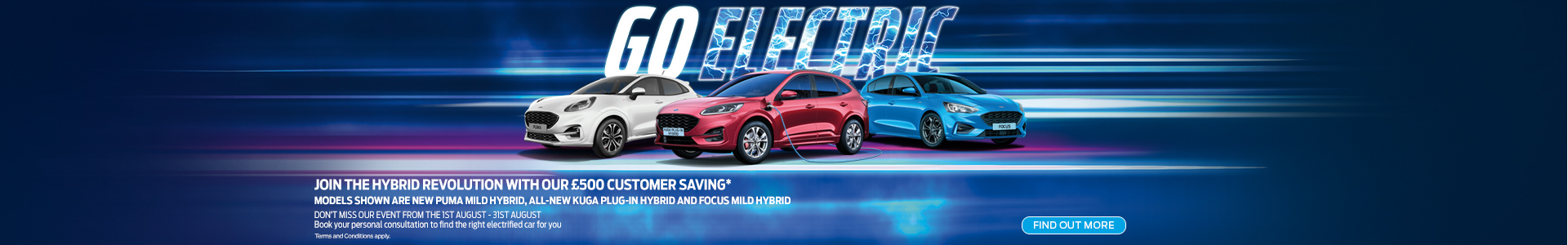 Go Electric Join the Hybrid Revolution with our £500 Customer Saving