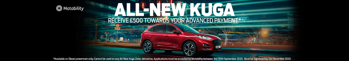 All-New Kuga Motability payment offer