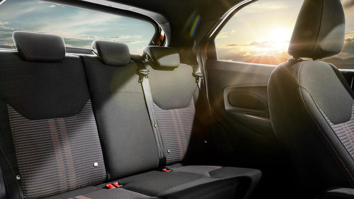 New KA+ rear interior