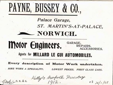 Busseys Advert 1912
