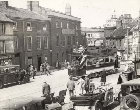 Earlham Road Tram 1930