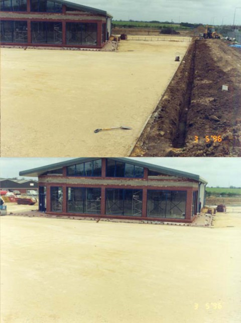 Fakenham site under construction