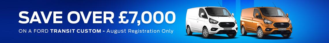 Save over £7000 on Transit Custom