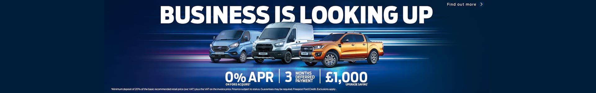 Business Is Looking Up save £1000 and 0% APR available