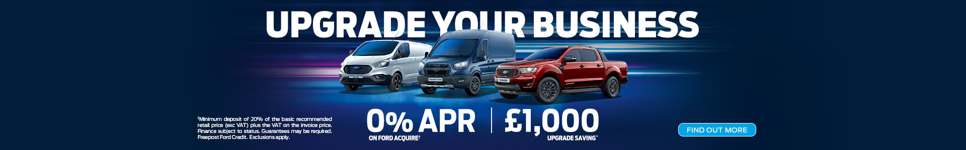 Upgrade Your Business save £1000 and 0% APR available