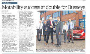 EDP report of Busseys Winning Motability Award