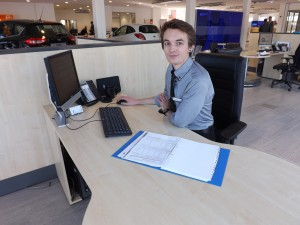 Trainee sales executive Matthew motoring ahead at Busseys