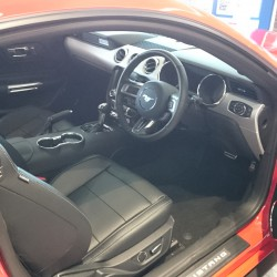 Ford Mustang interior at our showroom