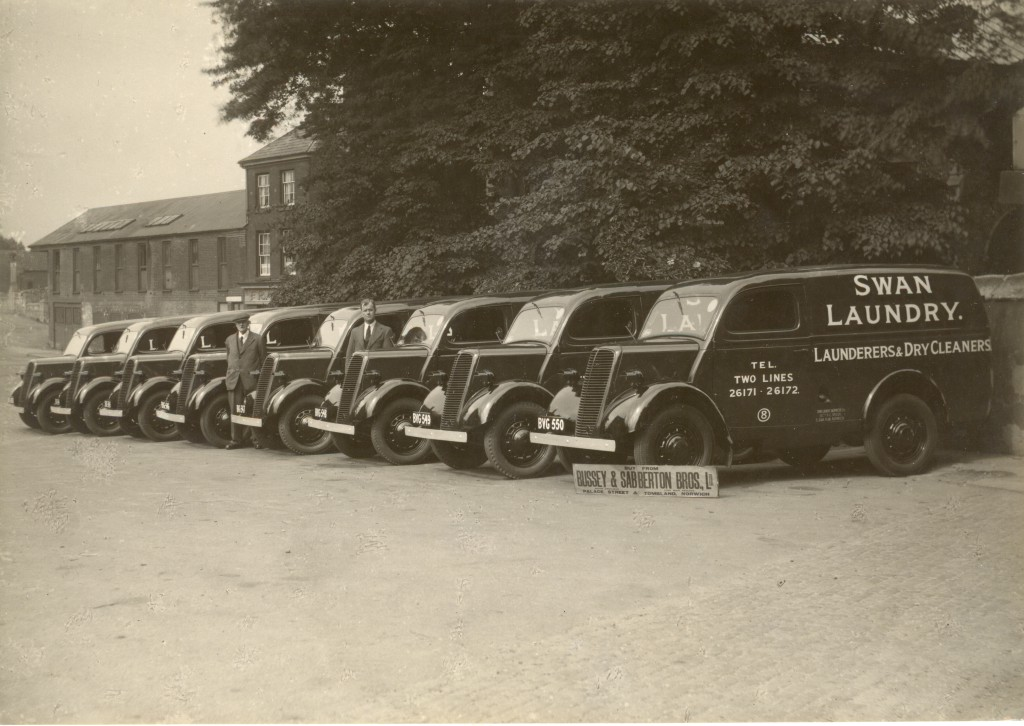 Swan laundry vehicles, supplied by Busseys