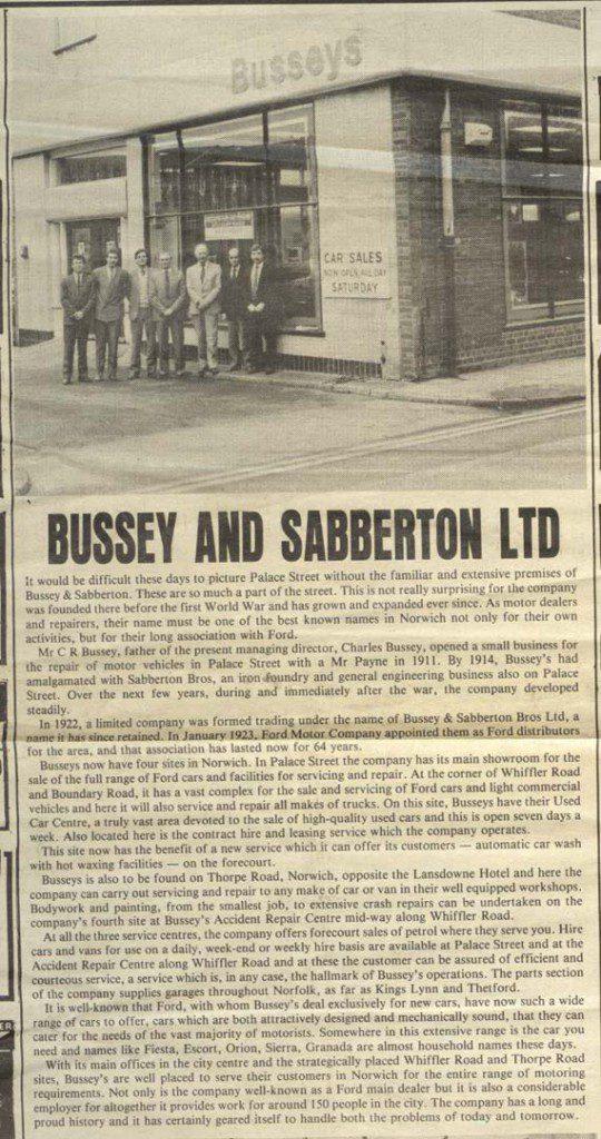 busseys history
