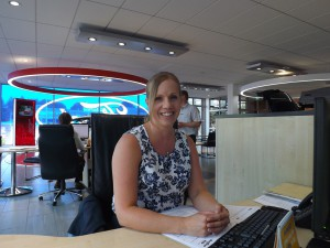 Motability Specialist Lorraine Morris at her desk