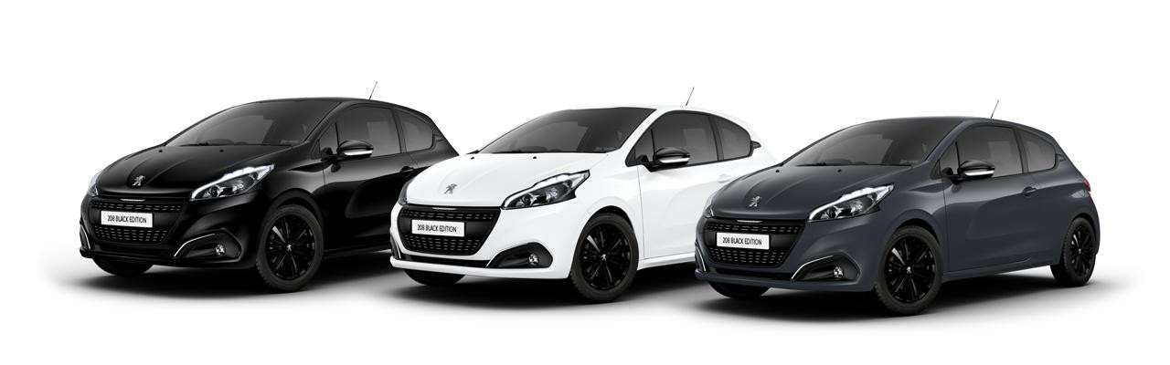 introducing the peugeot 208 black edition busseys ford. Black Bedroom Furniture Sets. Home Design Ideas