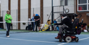 Wheelchair tennis coaching