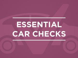 Quick car checks before a long journey