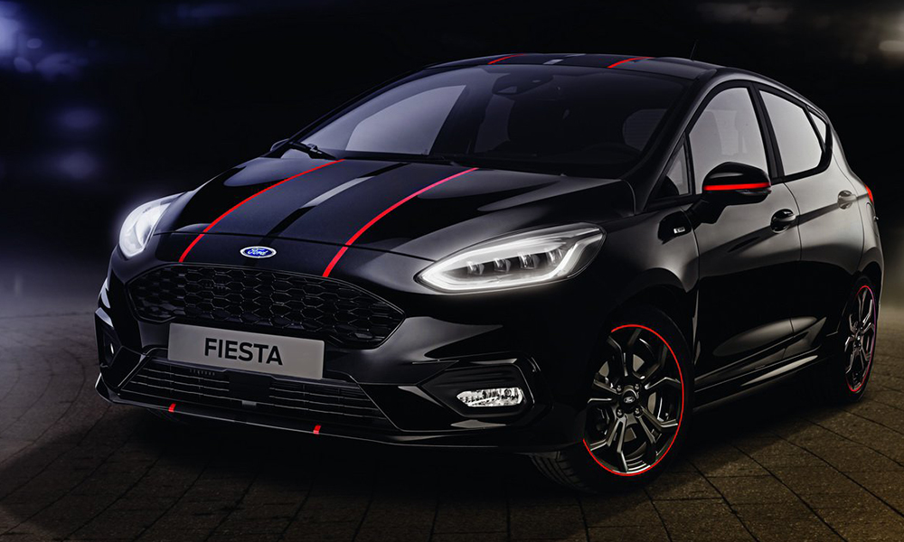 new ford fiesta st line red and black edition busseys. Black Bedroom Furniture Sets. Home Design Ideas