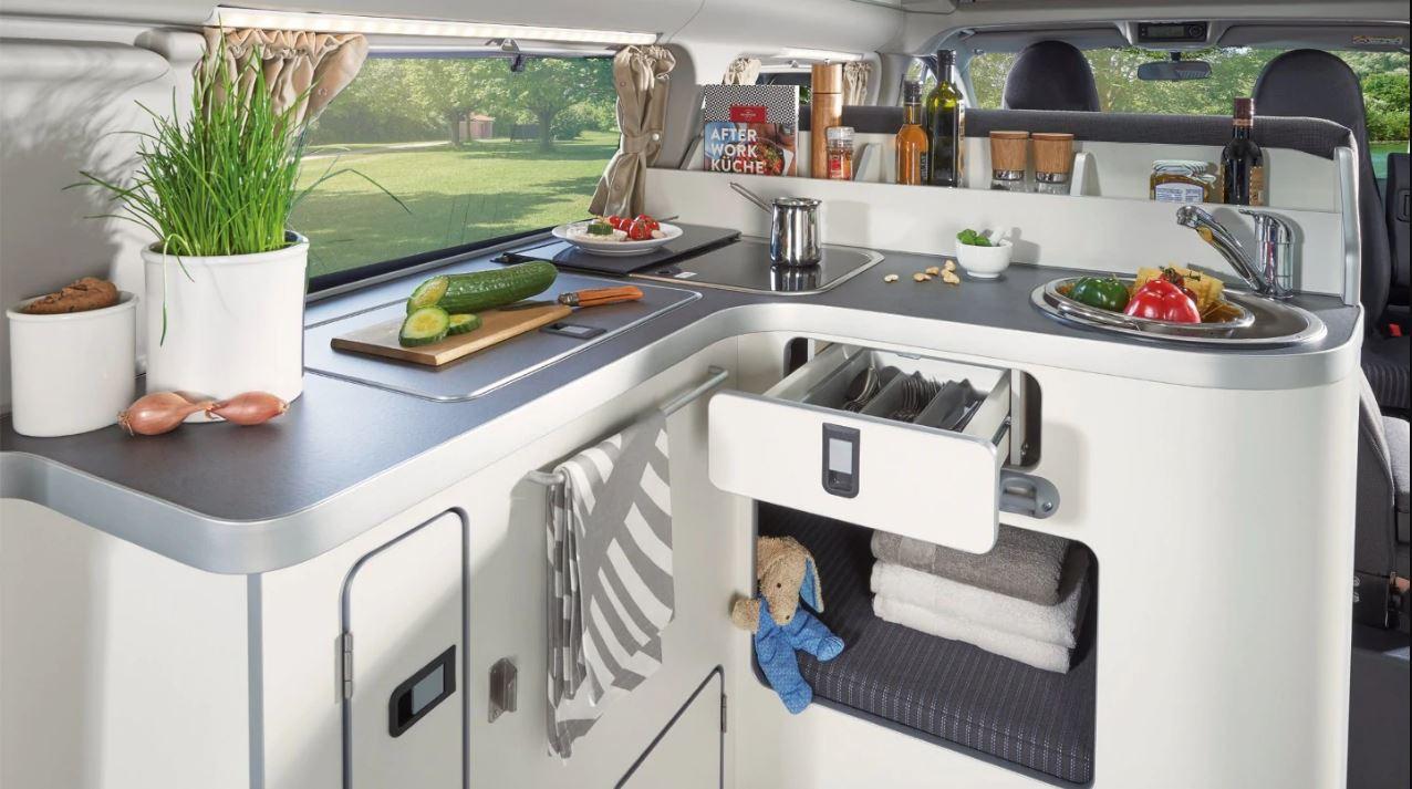 Transit Custom Nugget kitchen