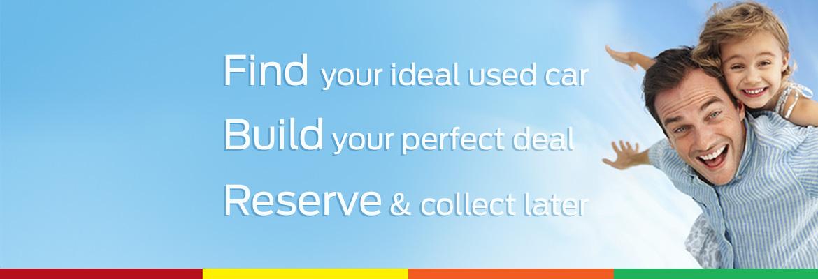 Find your ideal car, build your perfect deal, Reserve and collect later